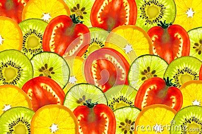 Mix sliced fruit