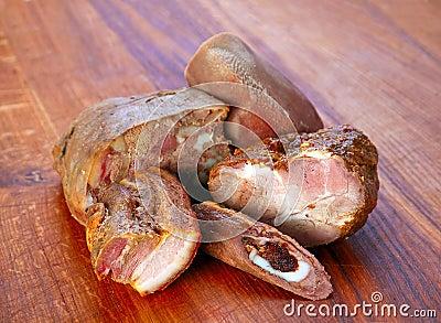 Mix smoked meat