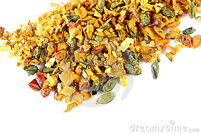 Mix of spices isolated