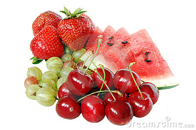 Mix of summer fruits