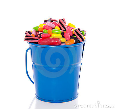 Mixed colorful candy sweets