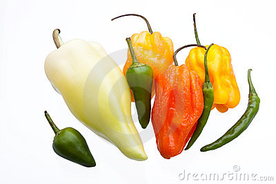 Mixed Coloured Chillies