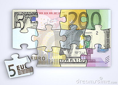 Mixed Dollar and Euro Note Puzzle