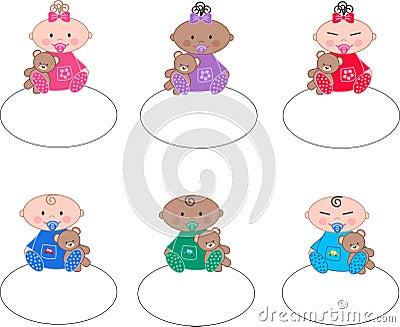 Mixed ethnic babies