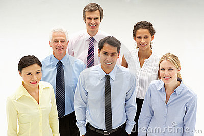 Mixed ethnic group of business people
