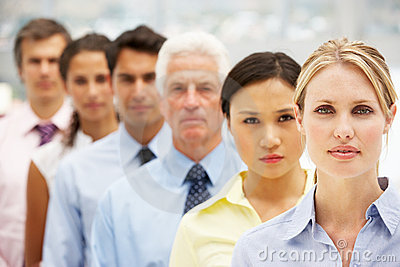 Mixed ethnic group business people