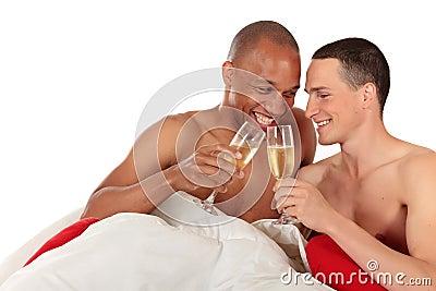 Mixed ethnicity  gay couple