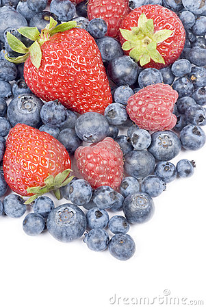 Free Mixed Fresh Berries Royalty Free Stock Photography - 10476217