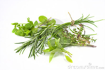 Mixed fresh herbs