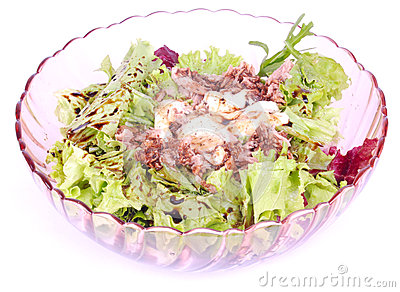 Mixed fresh tuna salad