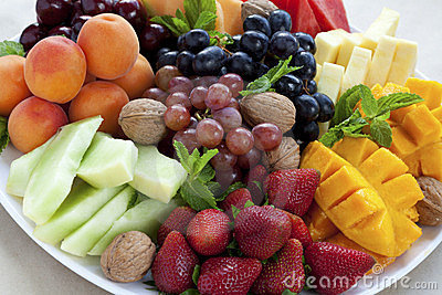 Mixed fruit platter