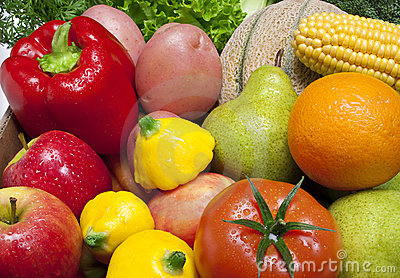 Mixed Fruit and Vegetables Food