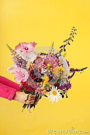 Mixed garden bouquet flowers