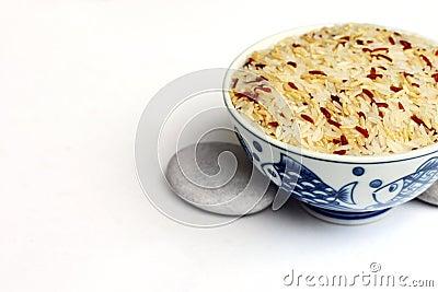 Mixed grain rice in bowl