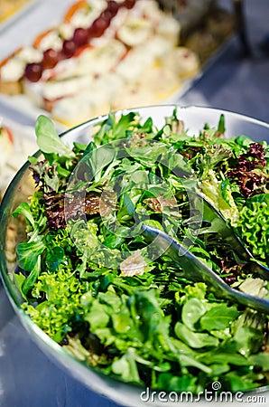 Free Mixed Greens Salad Stock Photos - 51657713