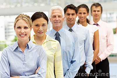 Mixed group business people