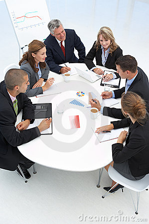 Free Mixed Group In Business Meeting Royalty Free Stock Photos - 20593678