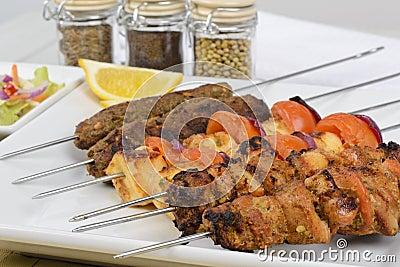 Mixed Kebabs on Skewers