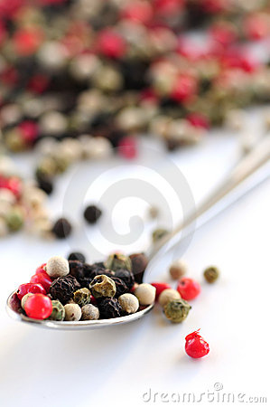 Free Mixed Peppercorns Royalty Free Stock Photos - 4119408