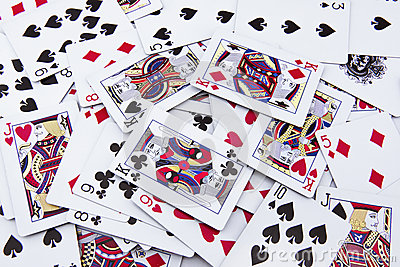 The mixed poker cards, gambling card