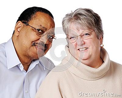 Mixed Race Senior Couple