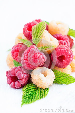 Free Mixed Raspberries Over Light Background Stock Image - 32750511