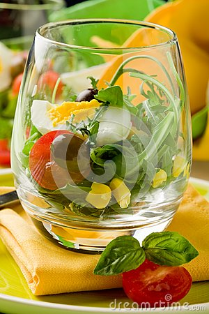 Mixed Salad inside a Glass