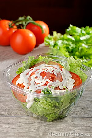Mixed Salad in takeaway container