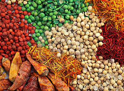 Mixed spice background