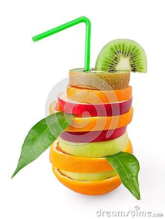 Mixed tropical fruit