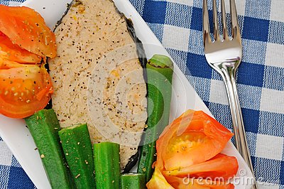 Mixed vegetables fish delicacy