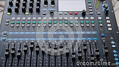 Mixer Console Electrical Sound Studio Closeudo banque de vidéos