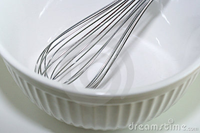 Mixing Bowl and Wire Whisk