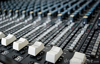 Mixing desk fader switches