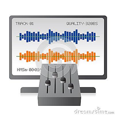 Free Mixing Music Tracks With Mixer Stock Photos - 10511483