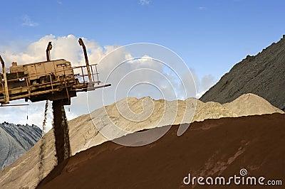 Mixing ore