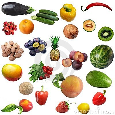 Mixture of fruit and vegetables