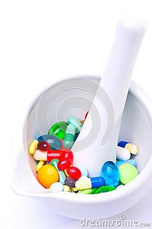 Mixture of pills