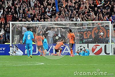 Mkhitaryan kicked second goal Editorial Stock Photo