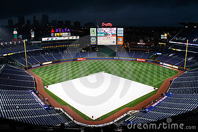 MLB Atlanta Braves - Rain Delay Editorial Photo