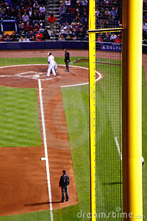MLB Atlanta BravesTurner Field Foul Pole Editorial Image