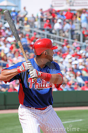 MLB Baseball Philadelphia Phillies PLayer Editorial Image