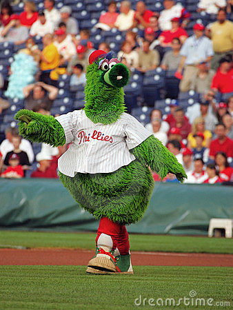 Free MLB Padres Vs. Phillies Philly Phanatic Stock Photos - 11172063