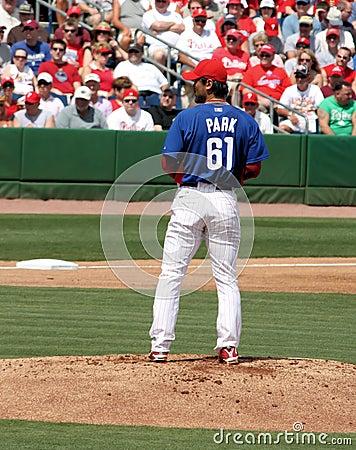 MLB Philadelphia Phillies Pitcher Chan Ho Park Editorial Stock Photo