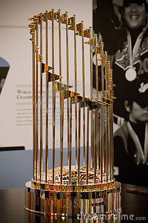 MLB World Series Championship Trophy Editorial Photography