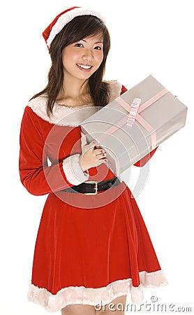 Mlle Santa et présent