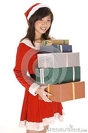 Mlle Santa et présents 2