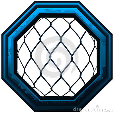 Free MMA Octagon Cage Sign. Royalty Free Stock Images - 69036819