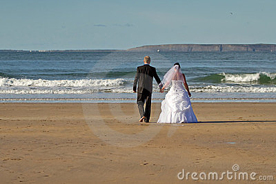Ménages mariés sur la plage