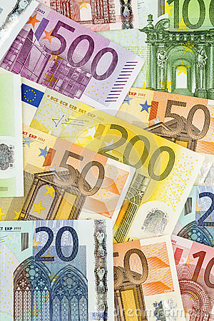 Många eurosedlar